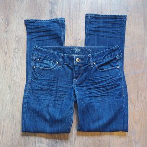 Express Boot Cut Med Wash Blue Jeans Size 6s